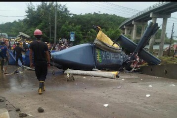 Photo of Helikopter Jatuh di Morowali Milik PT IMIP